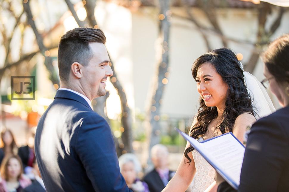 Padua Hills Theatre Wedding Ceremony Closeup