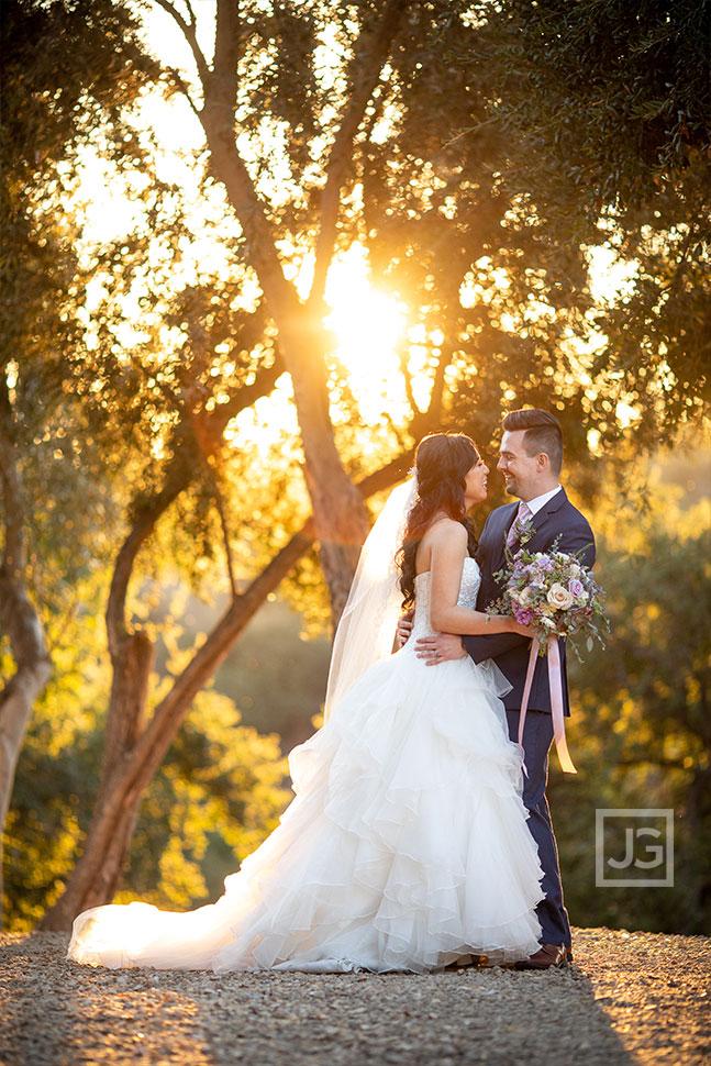 Padua Hills Wedding Photos with Trees
