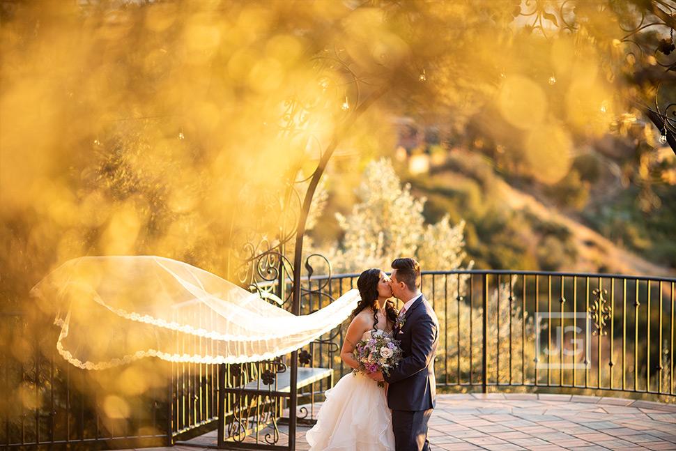 Padua Hills Wedding Photos on the Terrace