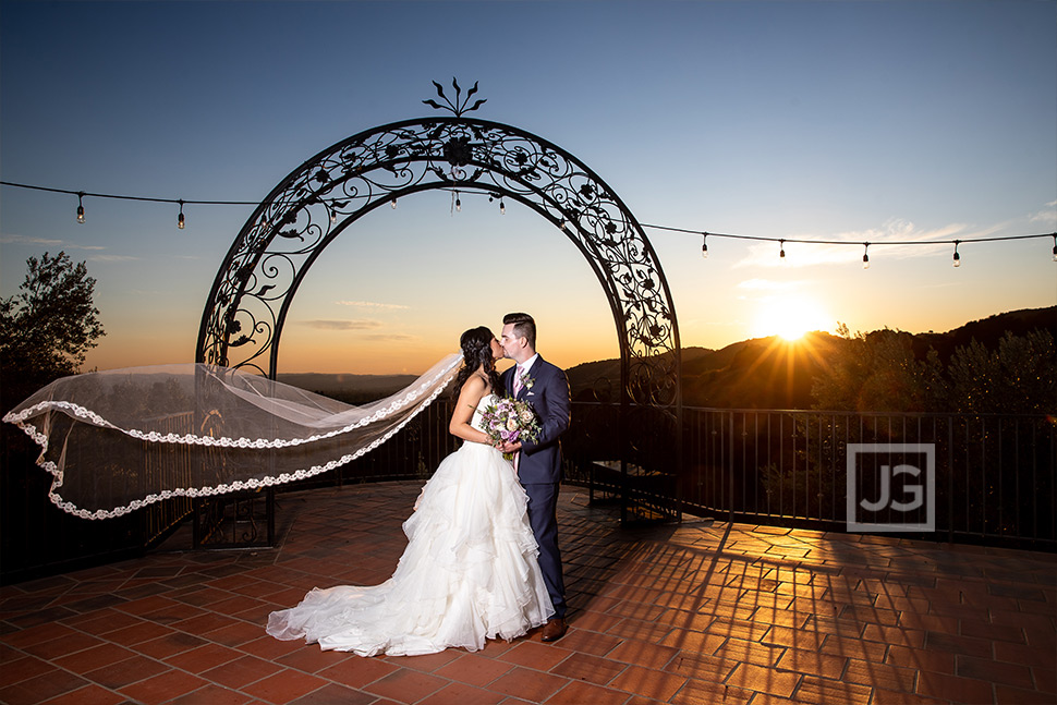 Padua Hills Sunset Wedding Photos on the Terrace