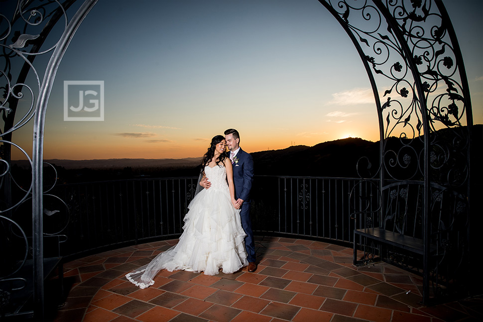 Padua Hills Wedding Photography on the Terrace