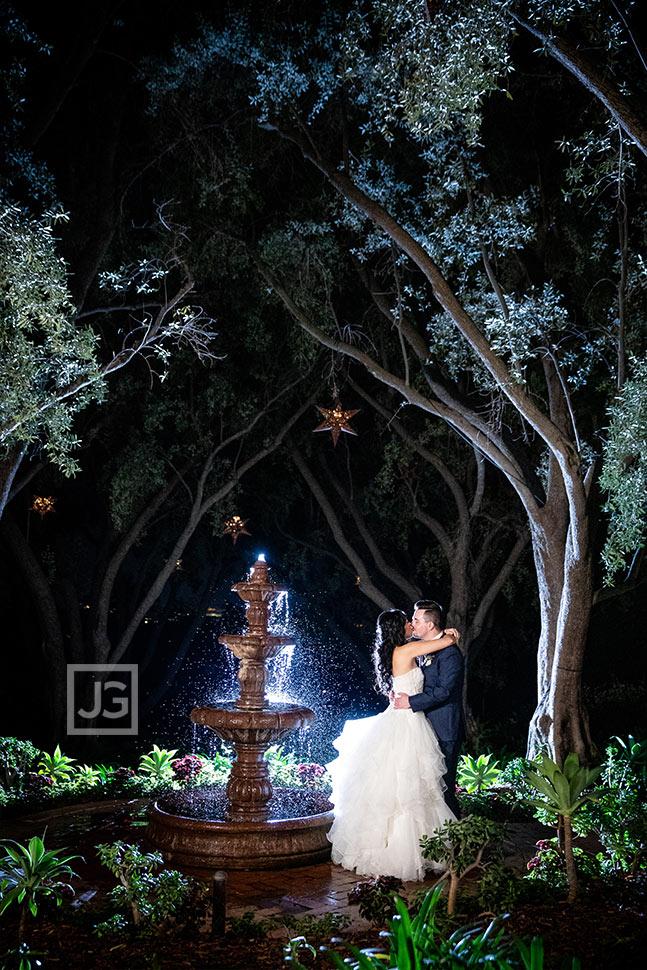 Padua Hills Fountain Wedding Photo