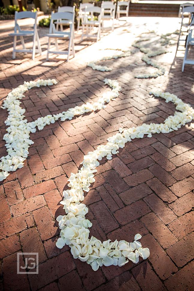 Padua Hills Wedding Ceremony Flower Petals