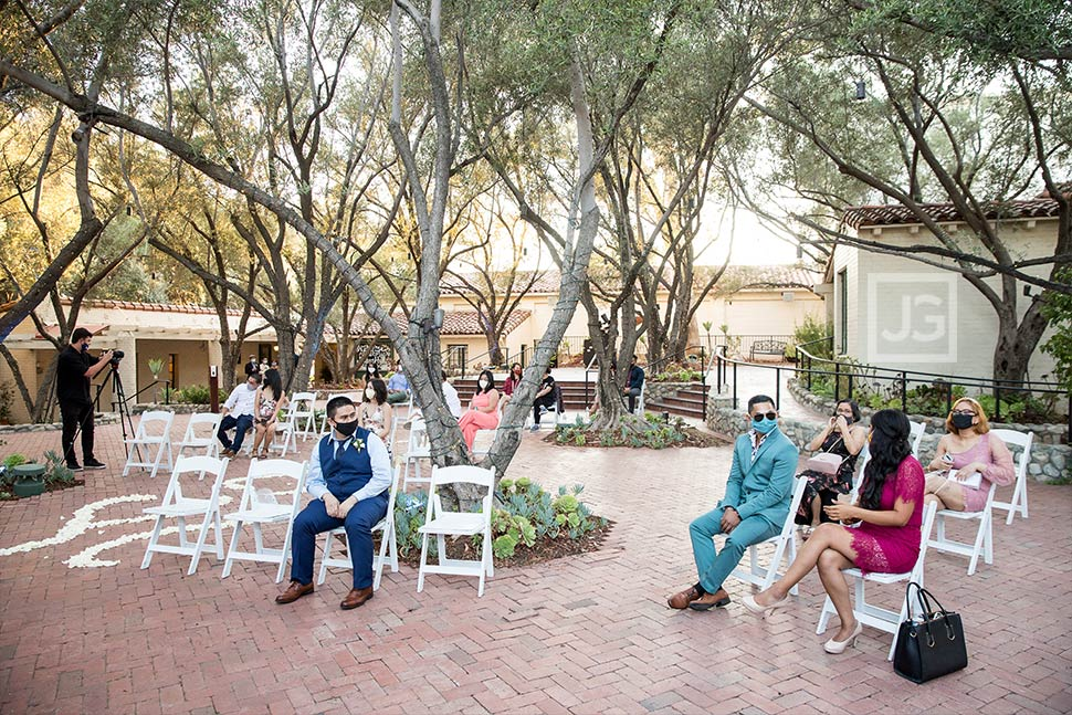 Socially Distanced Wedding