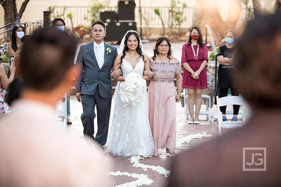 Coronavirus Wedding Ceremony Bride Procession