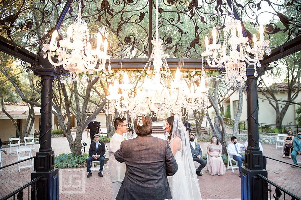 Wedding Ceremony with Chandelier