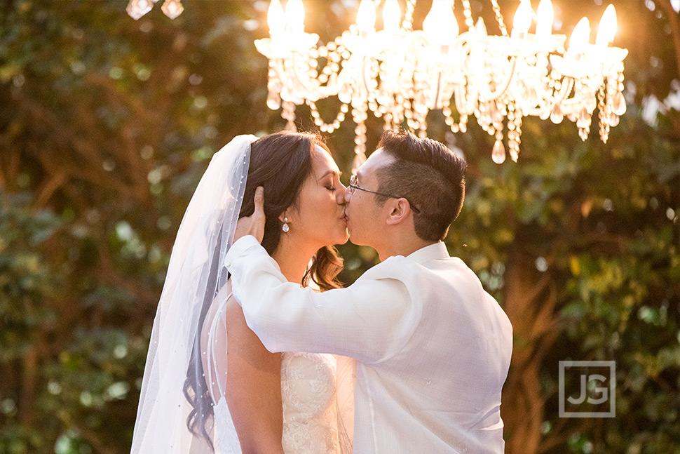 Padua Wedding Ceremony First Kiss