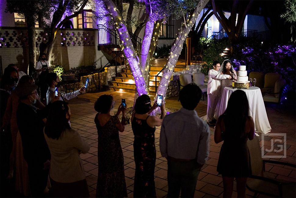 Micro Wedding Cake Cutting Ceremony