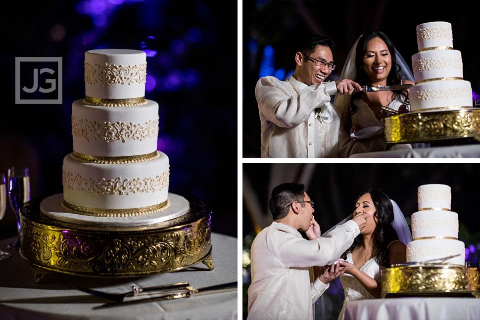 Micro Wedding Cake Cutting