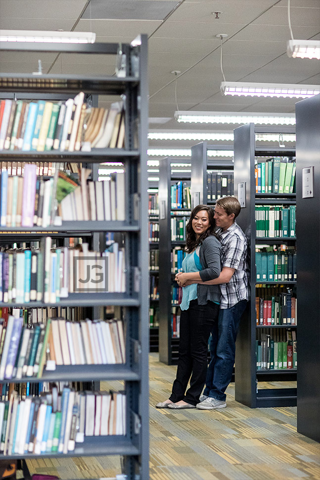 Cal Poly Pomona Library Engagement Photography