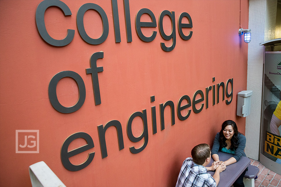 Engagement Photos Cal Poly Pomona College of Engineering