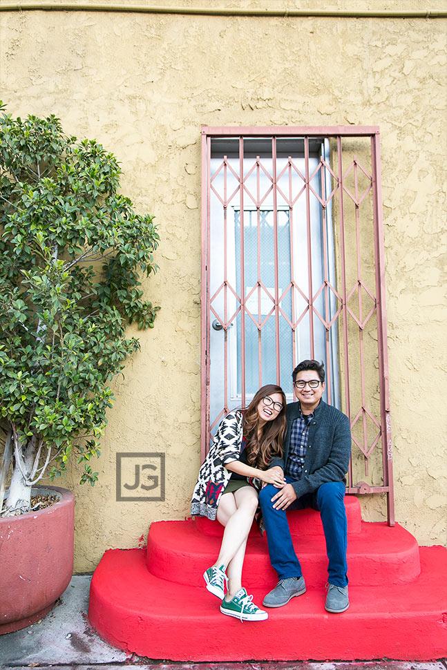 Engagement Photos in LA Art District
