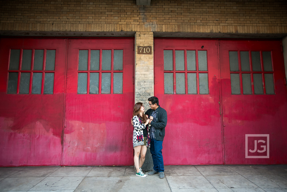 Red Engagement Photography
