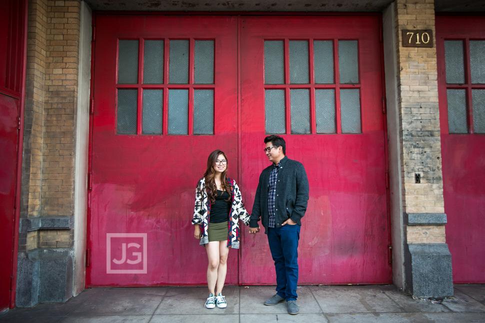 Red Door Engagement Photography