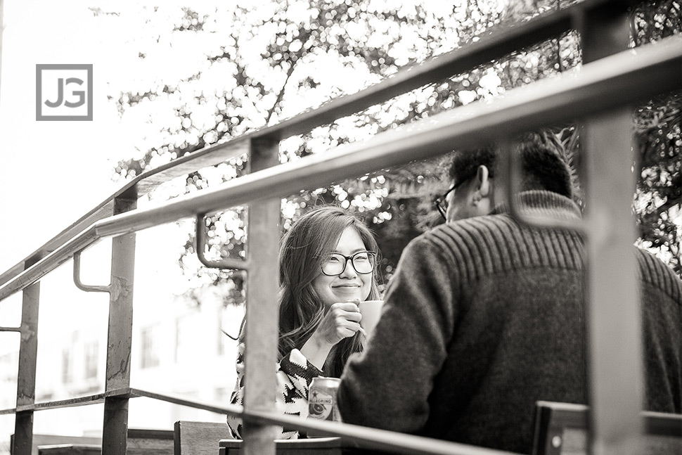 Candid Photo getting Coffee