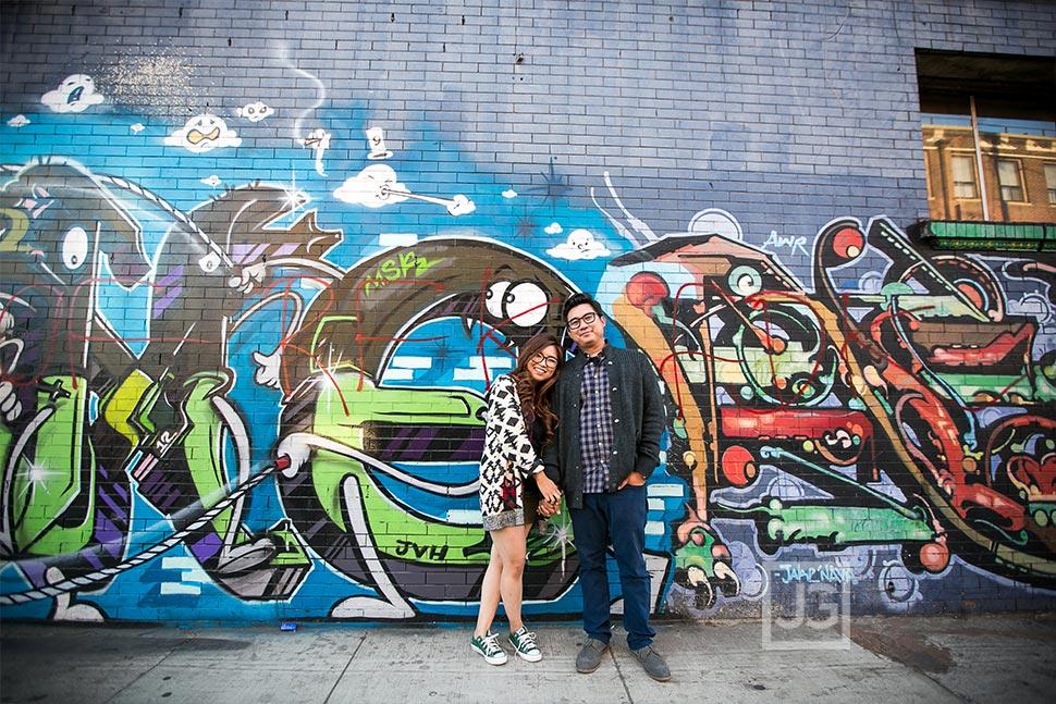 Los Angeles Engagement Photos Graffiti