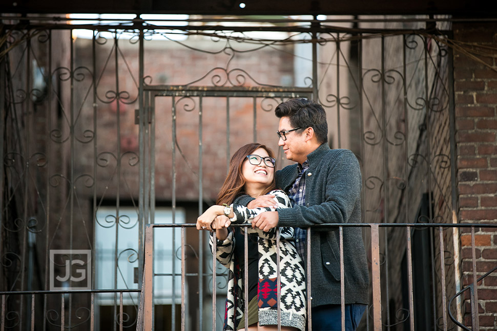 Engagement Photography on a Fire Escape