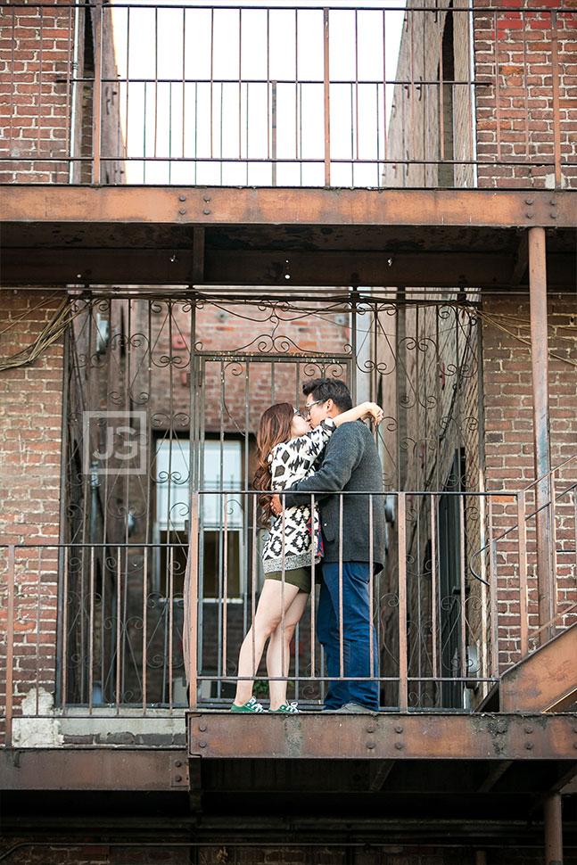 Engagement Photos on a Fire Escape