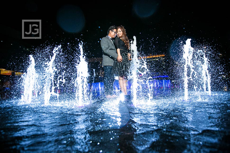 Engagement Photos Water Fountain