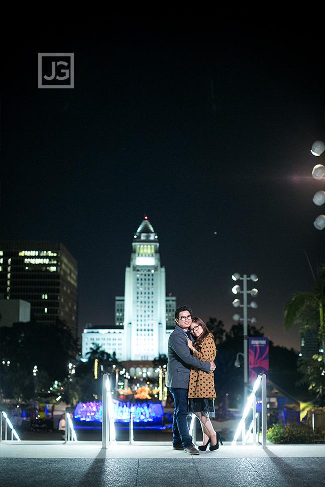 Los Angeles Engagement Photos City Hall