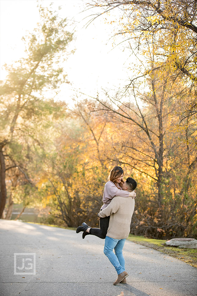 Park Trail Engagement Photography