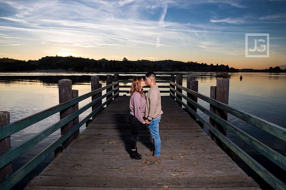Lake Pier Engagement Photos