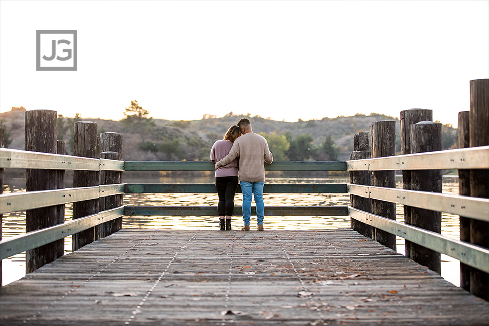 Engagement Photography on a Lake Pier