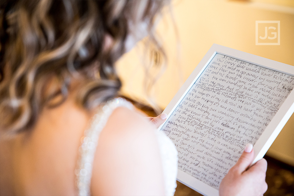 Padua Theatre Bride Preparation Reading Vows