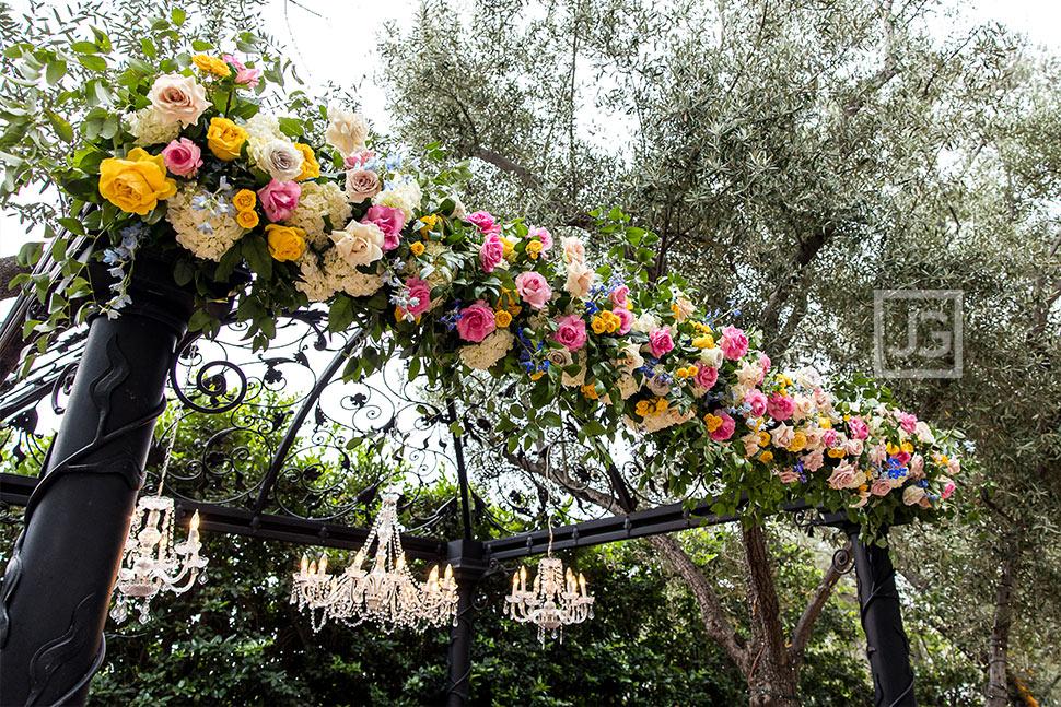 Padua Hills Theatre Wedding Ceremony Flowers