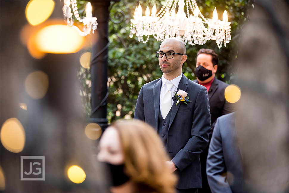 Padua Hills Theatre Wedding Ceremony Groom