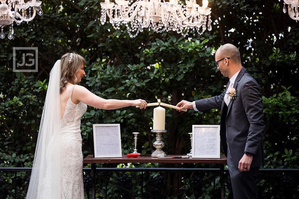 Claremont Wedding Lighting Ceremony