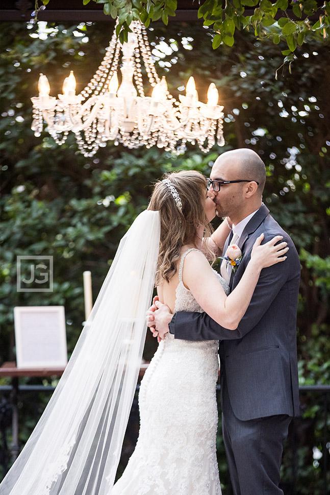 Padua Hills Theatre Wedding First Kiss