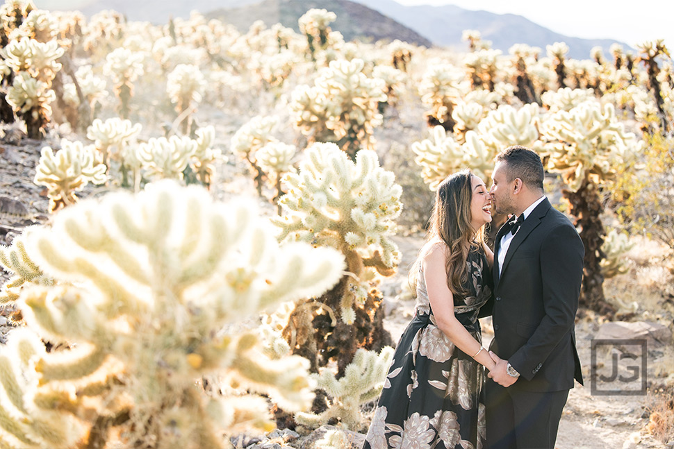 Engagement Photo with Cactus