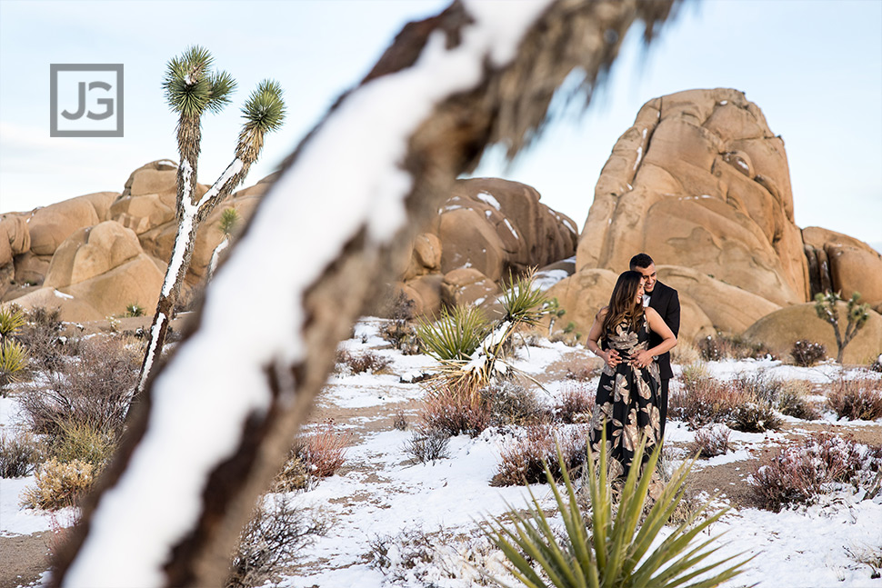 Snow in the Desert Engagement Photos