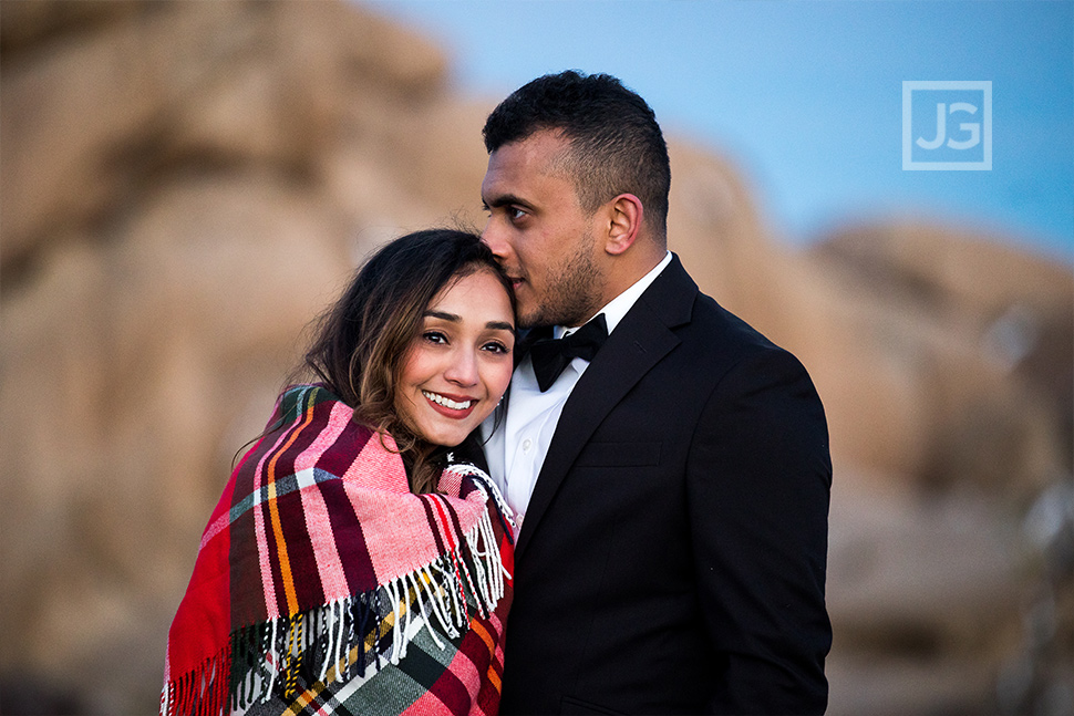 Engagement Photo with a Blanket