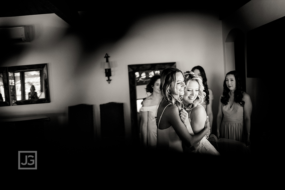 Cute Moment with Bridesmaids
