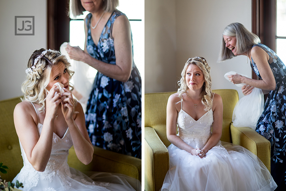 Bride Crying in a Sweet Moment