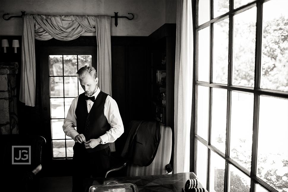Groom Preparation at Quail Ranch