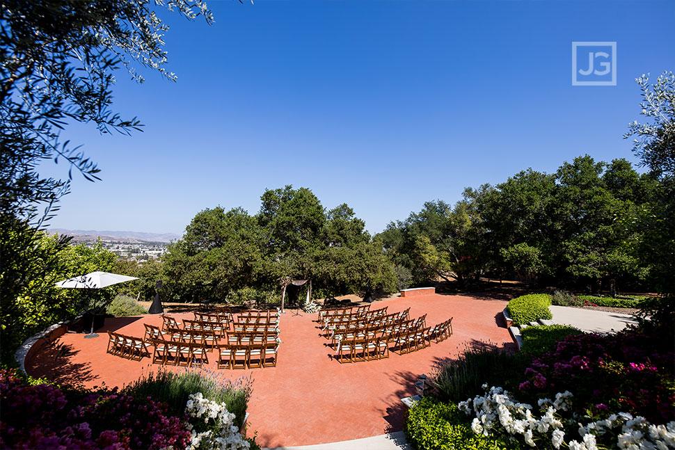 Quail Ranch Wedding Ceremony Chair Layout