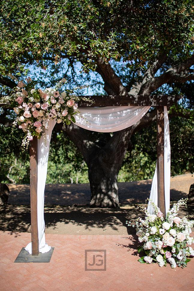 Quail Ranch Wedding Ceremony Arch