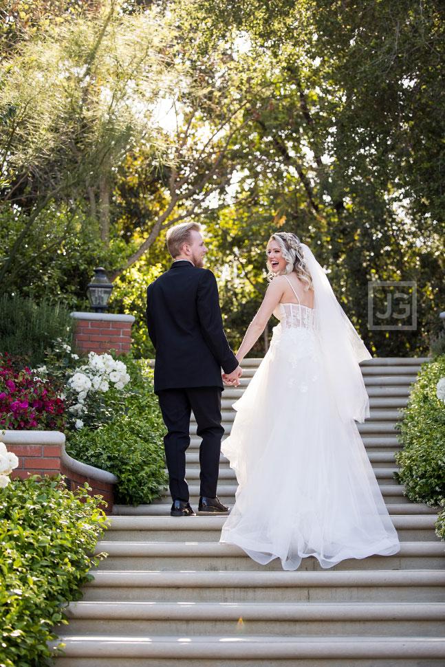 Simi Valley Wedding Photos on Stairs