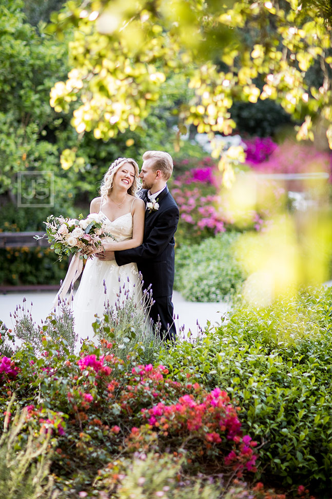 Quail Ranch Wedding Photography with Flowers