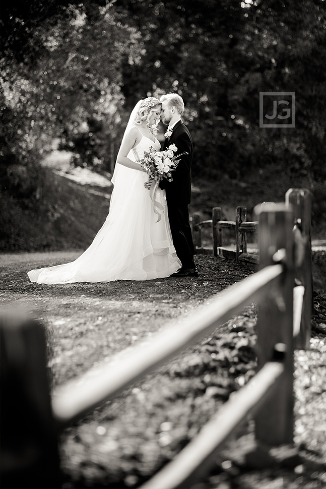 Quail Ranch Wedding Photos with Fence