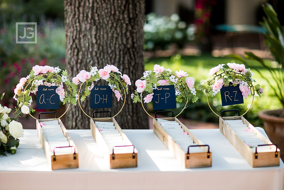 Wedding Reception Name Cards Simi Valley