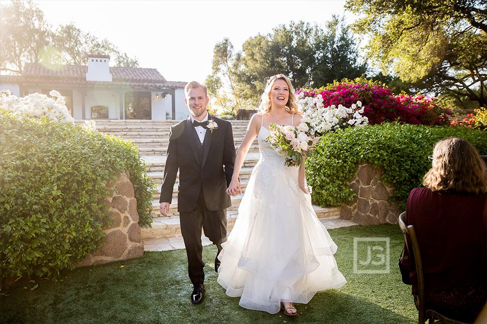 Wedding Grand Entrance at Quail Ranch