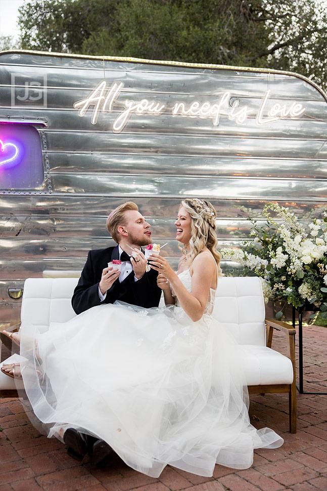 Simi Valley Wedding Vintage Trailer