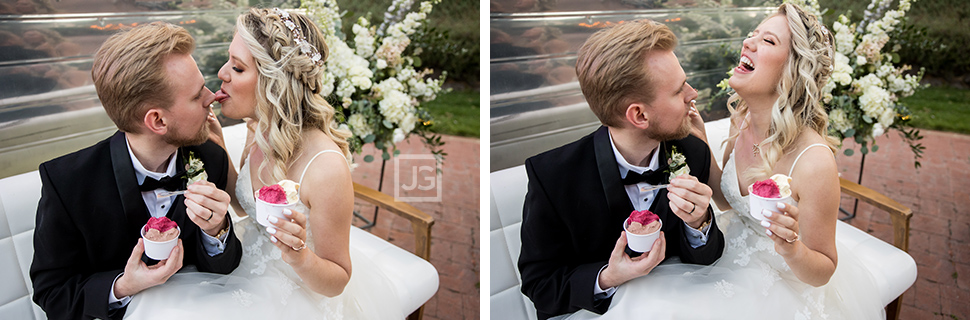 Simi Valley Wedding Eating Ice Cream