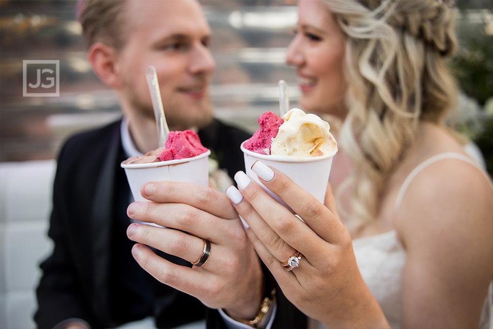Simi Valley Wedding Eating Gelato