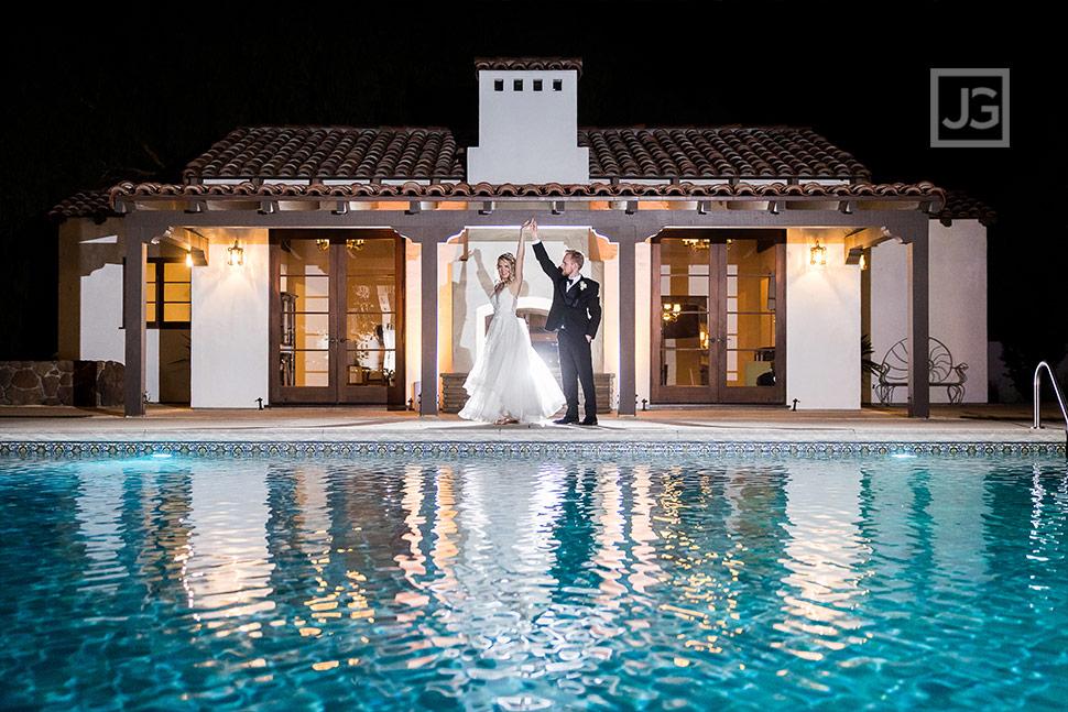 Quail Ranch Pool Wedding Photo