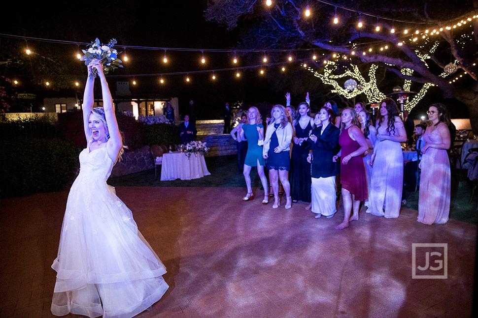Bouquet Toss Quail Ranch Wedding Reception